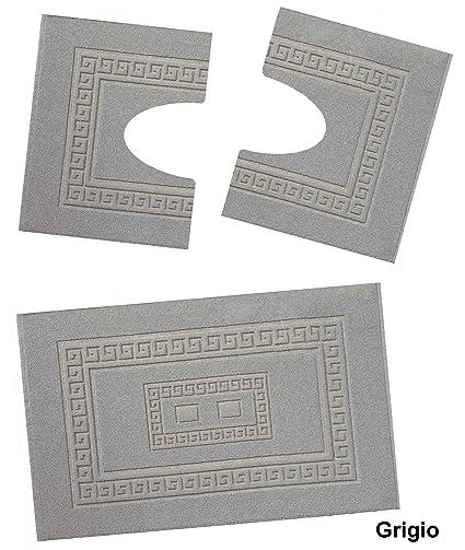 CASA TESSILE Torino Set 3 tappeti bagno in spugna cm 60X90 + 2 ...