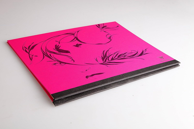 Clairefontaine 44806C Carton /à dessin Couleur /élastiques 28x38cm Fuchsia