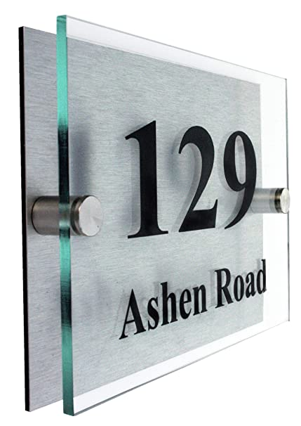 71fcdd3537aa Premier House Number Plaque|Giving young people with disabilities  employment|FONT CHOICE|10 year Guarantee: Amazon.co.uk: Garden & Outdoors
