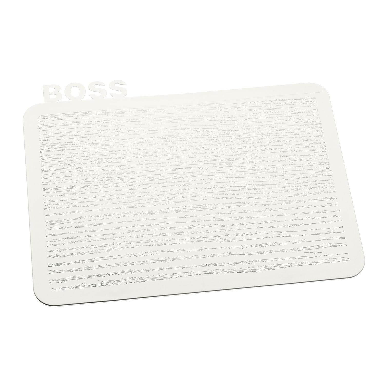koziol Frühstücksbrettchen  Happy Board Boss,  Kunststoff, solid schwarz, 18,9 x 24,7 x 0,5 cm