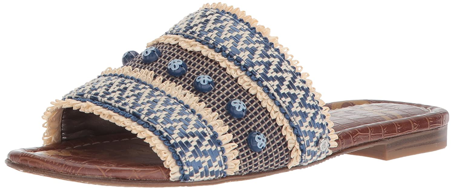 Sam Edelman Women's Brandon Slide Sandal B07692SXQ3 6.5 B(M) US|Blue/Multi