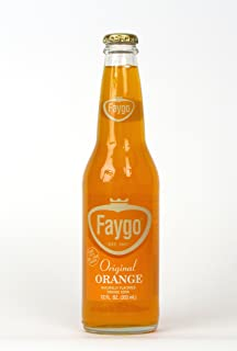 product image for Faygo original orange flavor soda, 100% cane sugar, 12-fl. oz. glass bottle