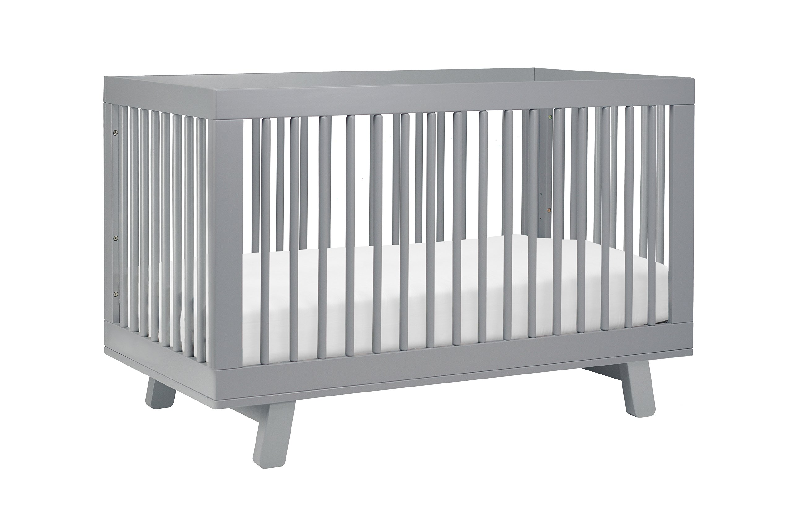 Amazon com babyletto hudson 3 in 1 convertible crib with toddler bed conversion kit grey hudson crib gray baby