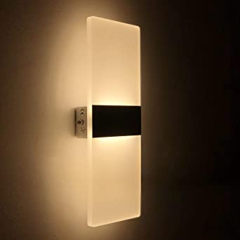 Wandleuchte Led Innen 12w Wandlampe Acryl Wandbeleuchtung Modern Für
