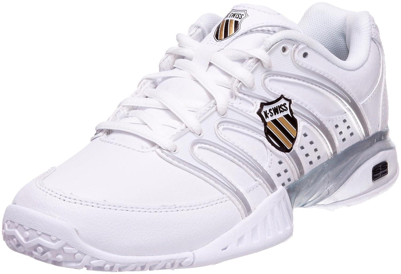 K-Swiss - Zapatillas de tenis de cuero para mujer color blanco talla 40 92637-172-M