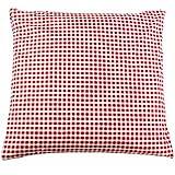 Taie d'oreiller 40x40 cm cottage à carreaux rouge/blanc en coton tissé