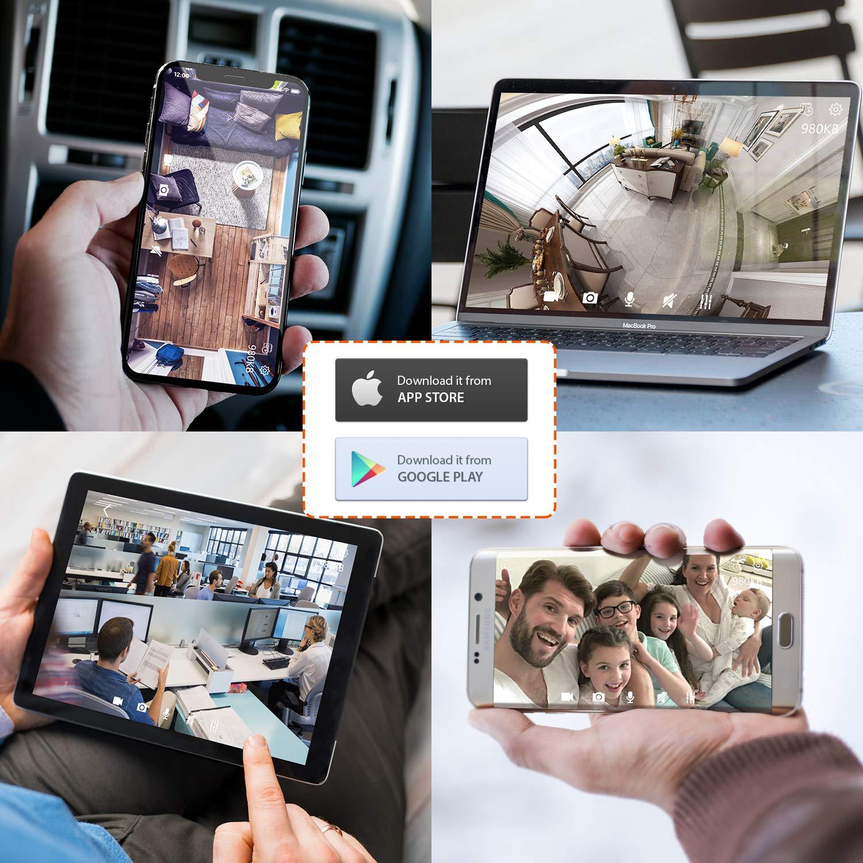 Security Camera WiFi IP Camera - KAMTRON HD Home Wireless