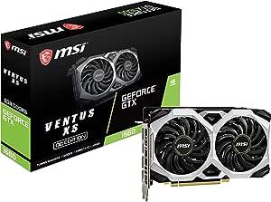 MSI Gaming GeForce GTX 1660 192-بت HDMI/DP 6GB GDRR5 HDCP يدعم DirectX 12 Dual Fan VR Ready OC (GTX 1660 VENTUS XS 6G OC)