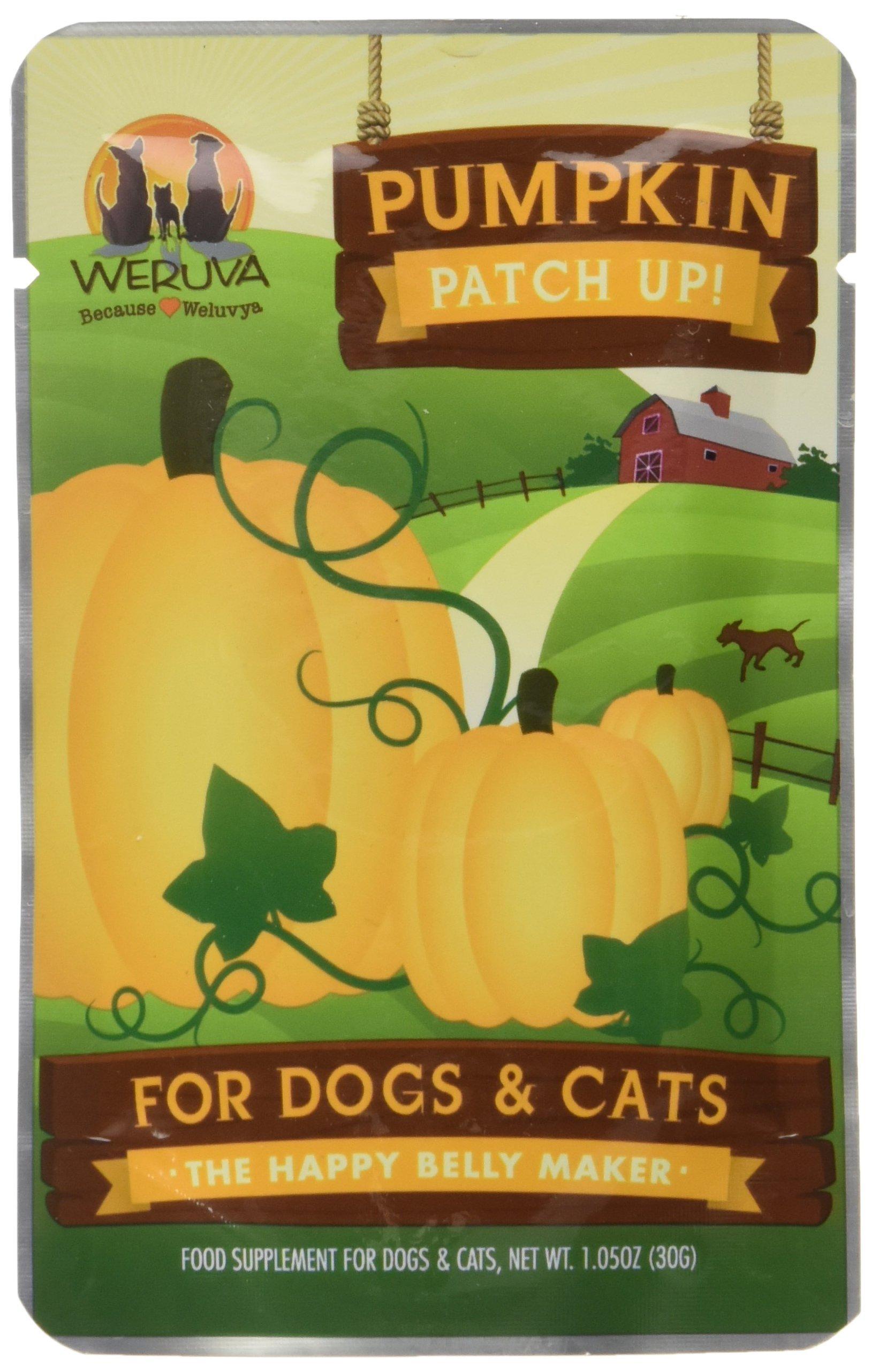 Weruva Pumpkin Patch Up!, Pumpkin Puree Pet Food Supplement For Dogs & Cats, 1.05Oz Pouch (Pack Of 12) by Weruva
