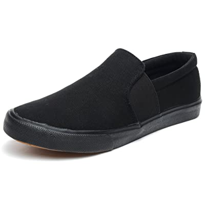 Odema Mens Canvas Shoes Lowtop Sneakers Loafers Slip-ons Driving Shoes | Loafers & Slip-Ons