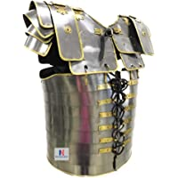 NAUTICALMART Roman Lorica SEGMENTATA SEGMENTA Armor + Roman Centurion Helmet Armour Costume