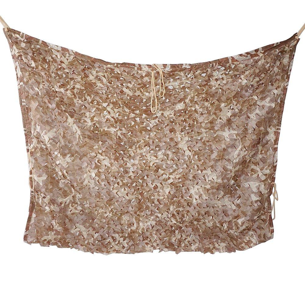 Malla de camuflaje camuflaje malla persianas para caza Camping silla decoración del hogar y deportes al aire libre–desierto, 2x3m / 6.6x10 ft Moumou