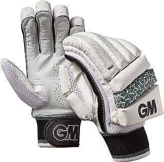 Gunn & Moore 303 - Guantes de bateo para niños (Mano Derecha), Color Blanco, Plateado y Negro GM Cricket
