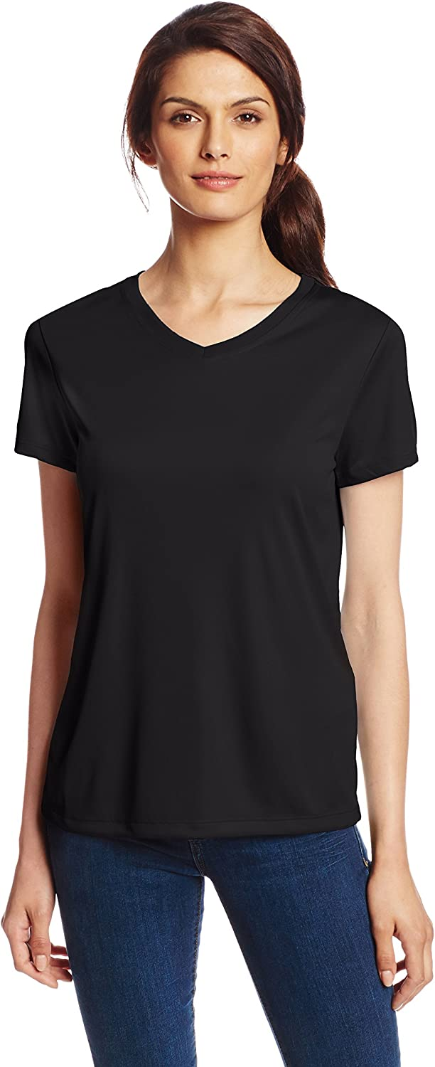 Hanes Sport Women's Cool DRI Performance V-Neck Tee at  Women's Clothing store