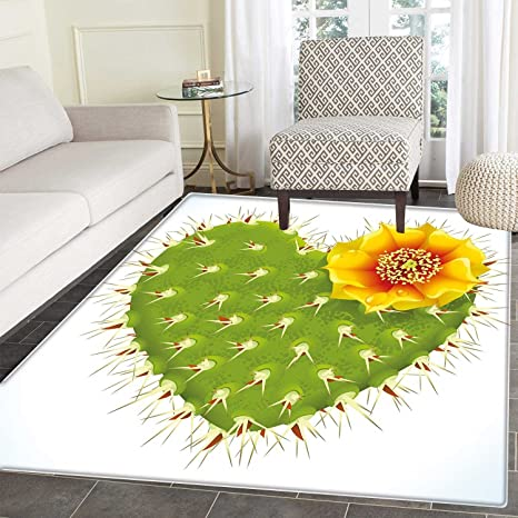 Amazon com: Cactus Decor small rug Carpet Thorny Cactus in the Shape