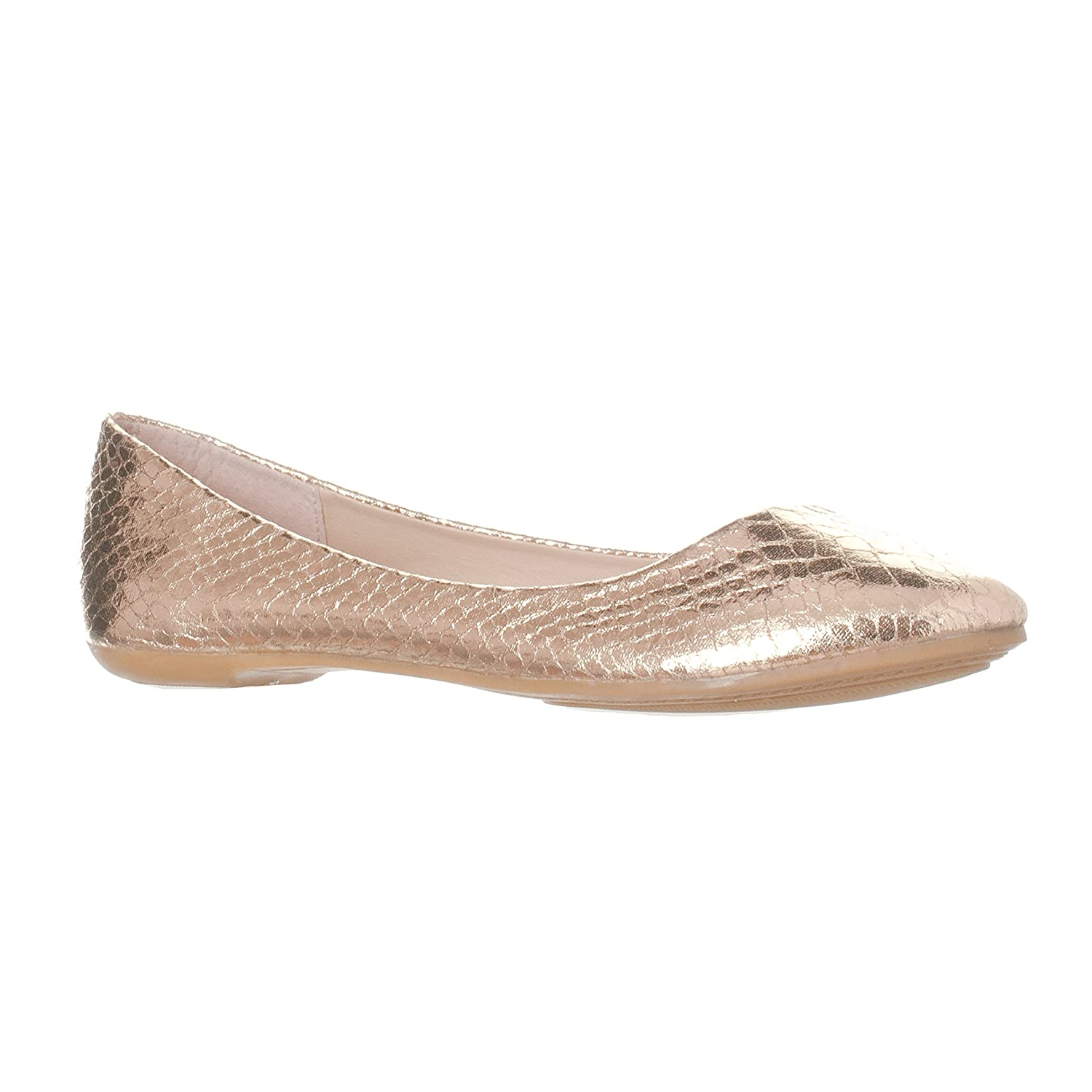 Riverberry Women's Aria Closed, Round Toe Ballet Flat Slip On Shoes B017CC3K6E 9 M US|Gold Snake