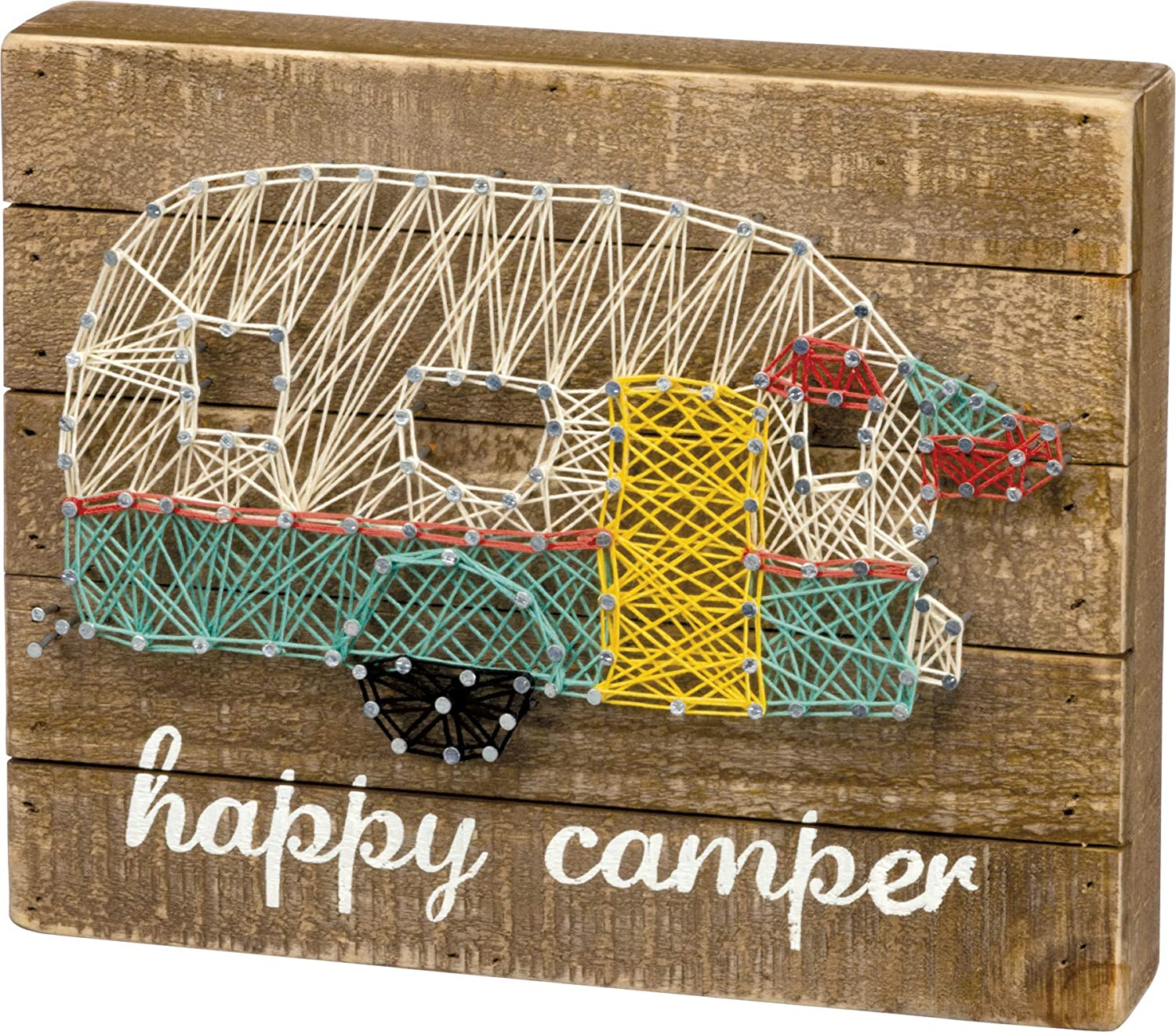 Primitives by Kathy 30458 String Art Wood Box Sign, 10