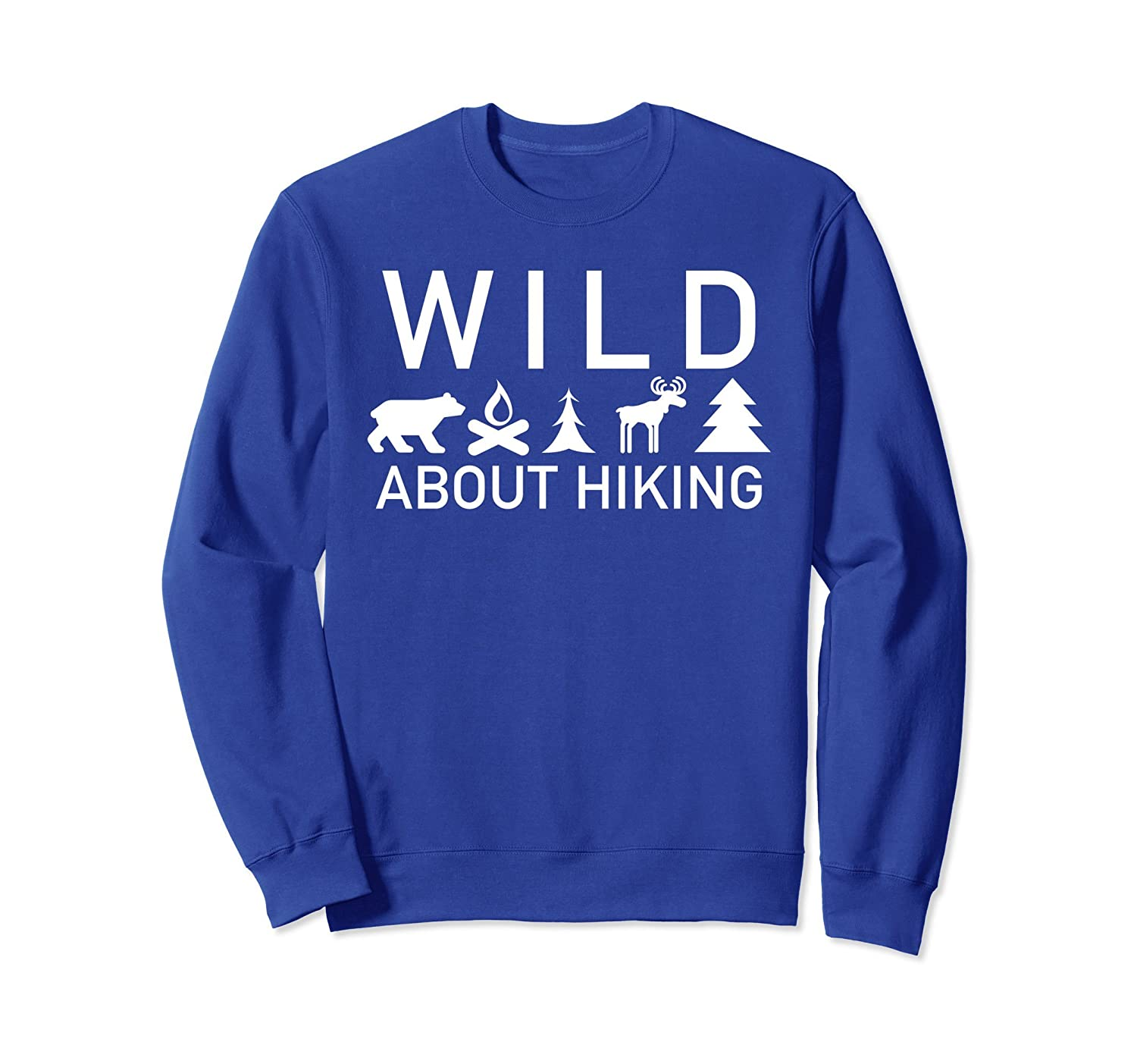 Wild About Hiking Outdoors Camp Fire Bear Sweatshirt-AZP
