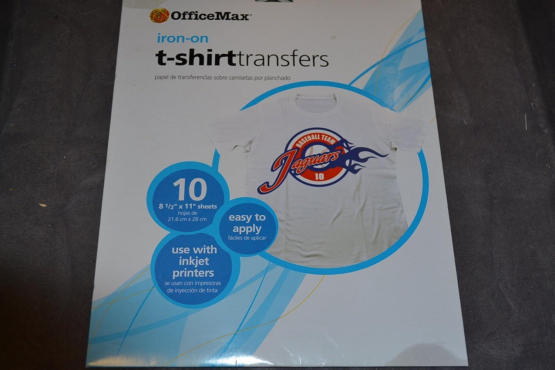 Amazon.com : Iron-On T-Shirt Transfers for Inkjet Printers ...