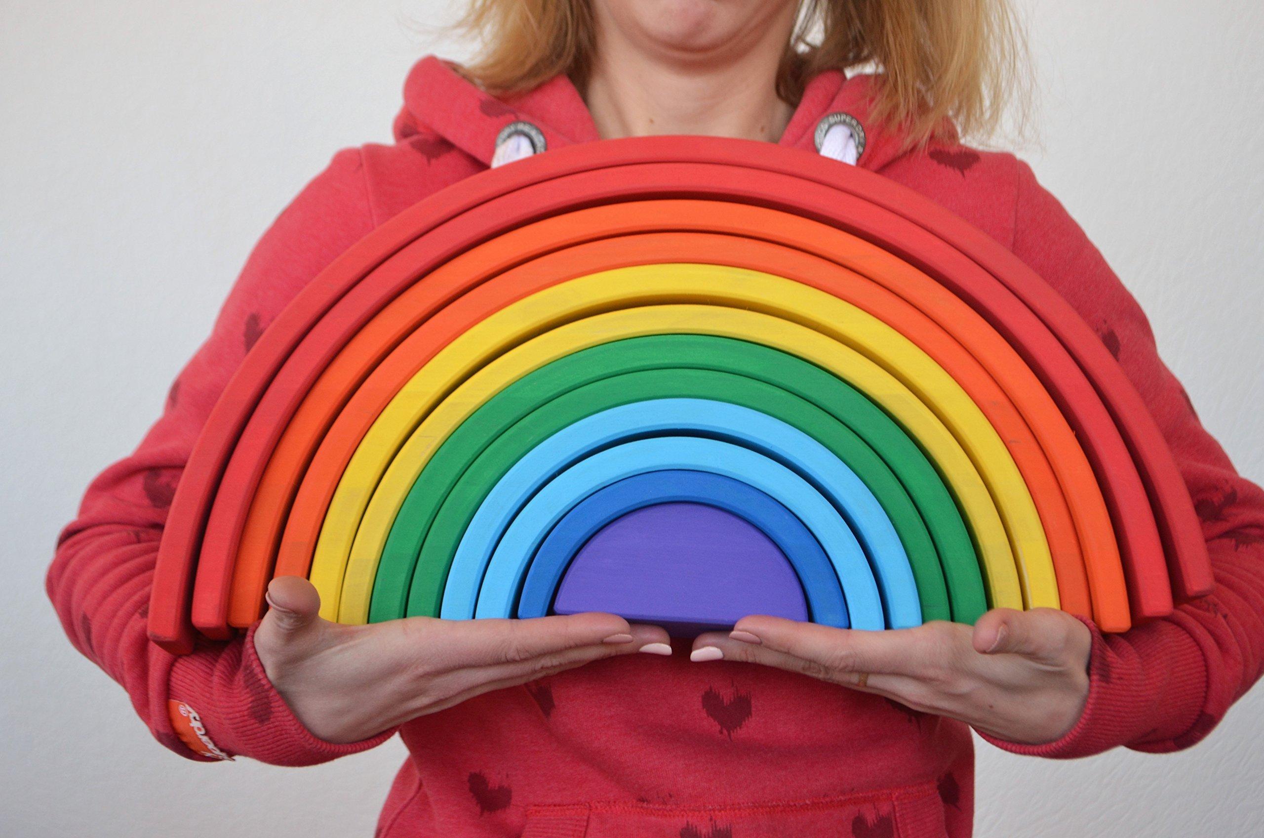 Mega Wooden Rainbow XXL the best Handmade eco friendly toy for babies
