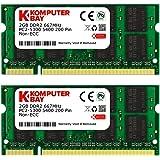 Komputerbay 4GB 2X 2GB DDR2 667MHz PC2-5300 PC2-5400 DDR2 667 (200 PIN) SODIMM Laptop Memory