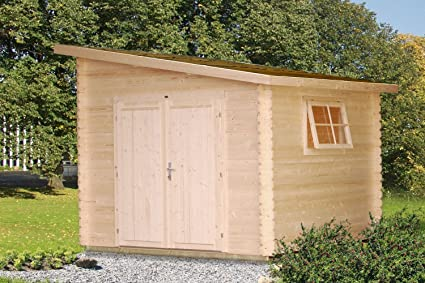 Jardín Casa con puerta de madera Pinus P9 Natural – 28 mm listones hogar, superficie. Pasa ...