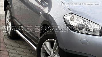 Nissan Qashqai + 2 barras laterales de acero inoxidable 2014