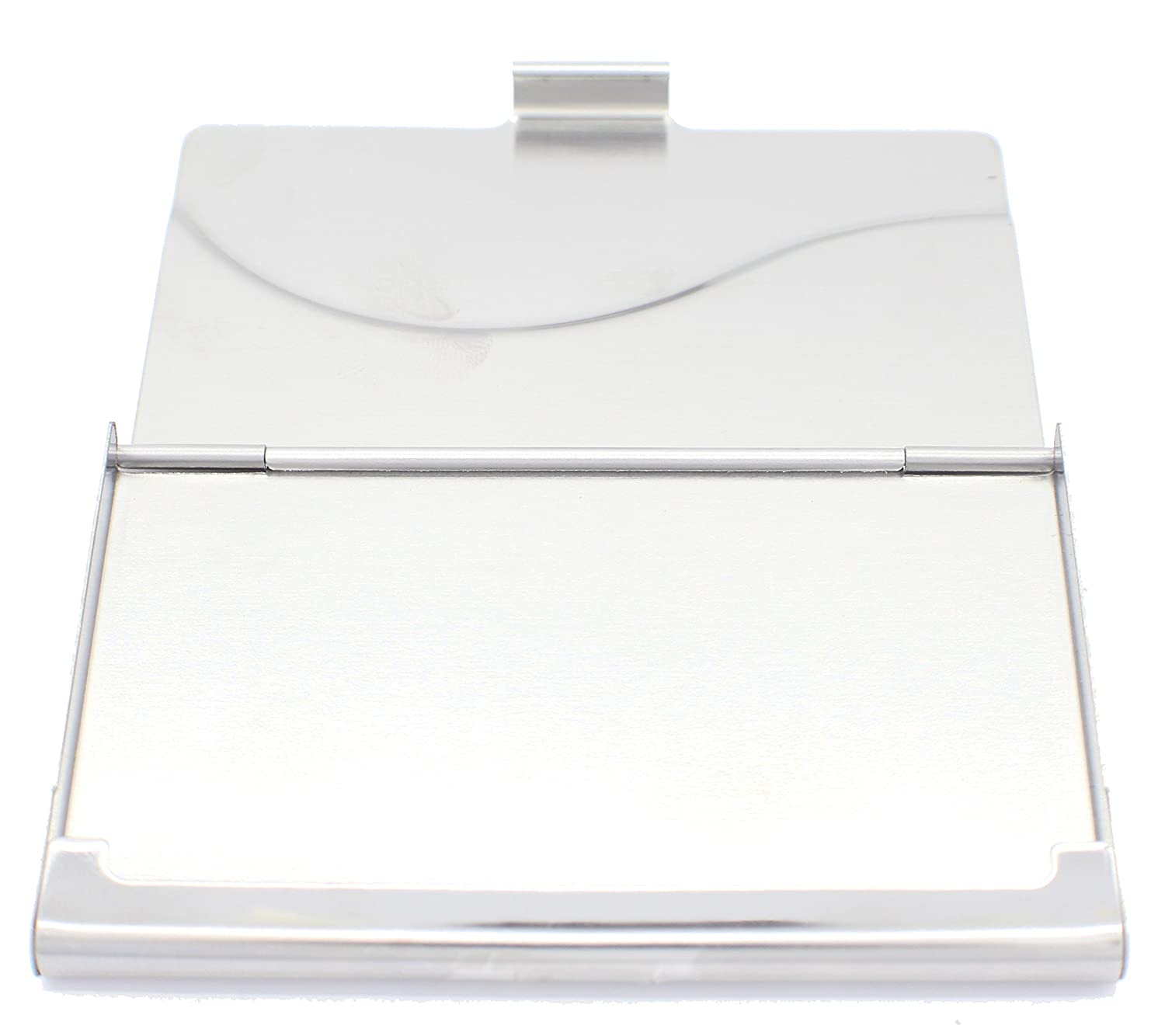 Personalised Metal Polished Wave Business Card Holder Engraved Free Any Name