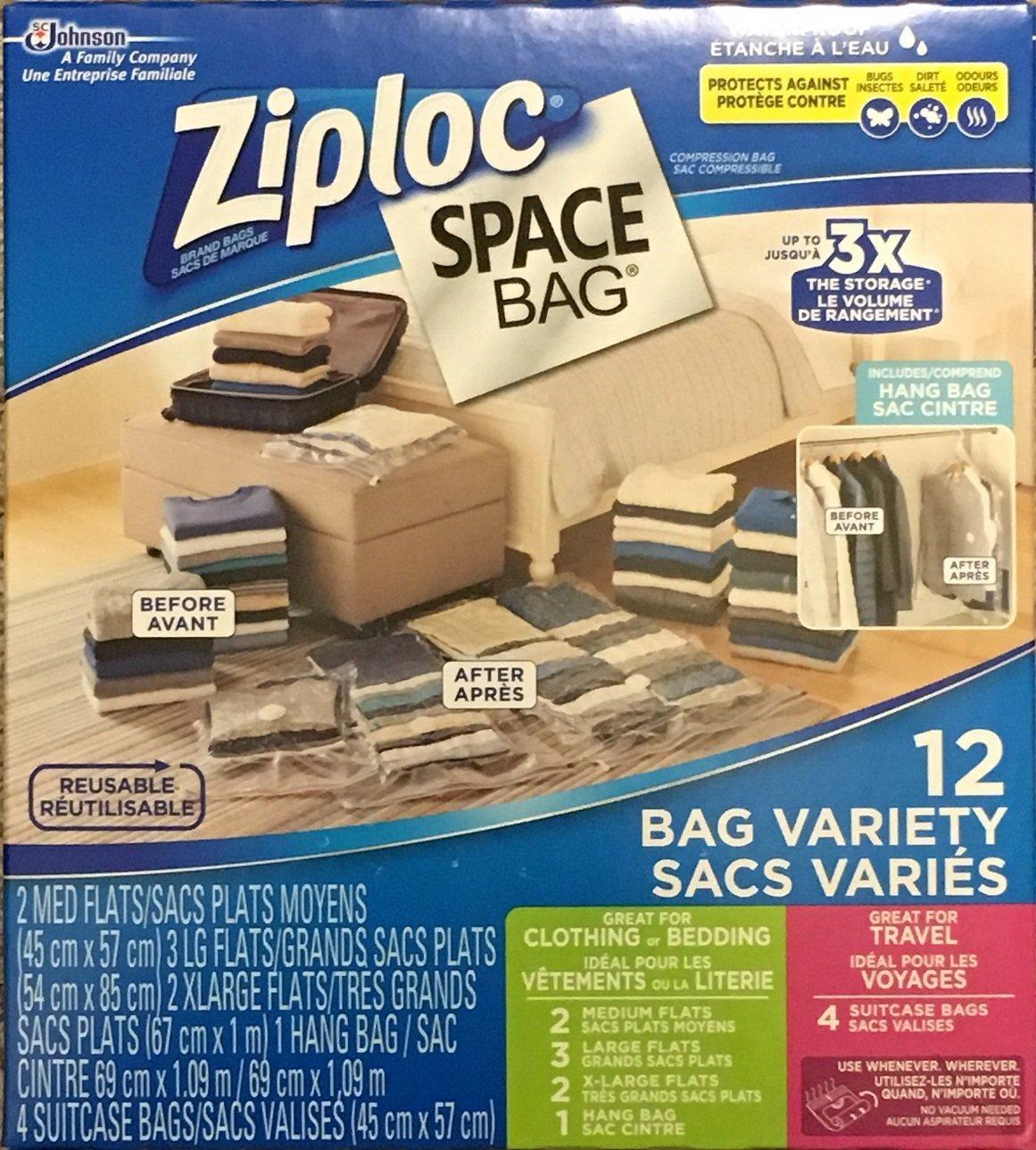 Ziploc Space Bag, 12 Vacuum Bag Variety