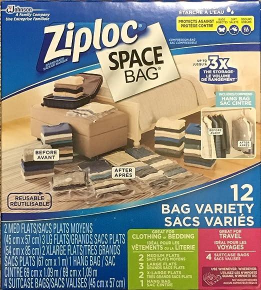 Bolsa de Ziploc bolsas de espacio - 12 variedad - 2 Tamaño ...