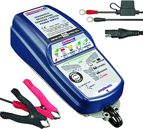 Optimate Tecmate 6 Select Tm190 12v 5a 9 Stage Battery Charger For Spiral Cell And Encapsulated Starter Or Deep Cycle High Performance Batteries Blue 6 Selectable 14 4v 14 7v Power Supply Auto