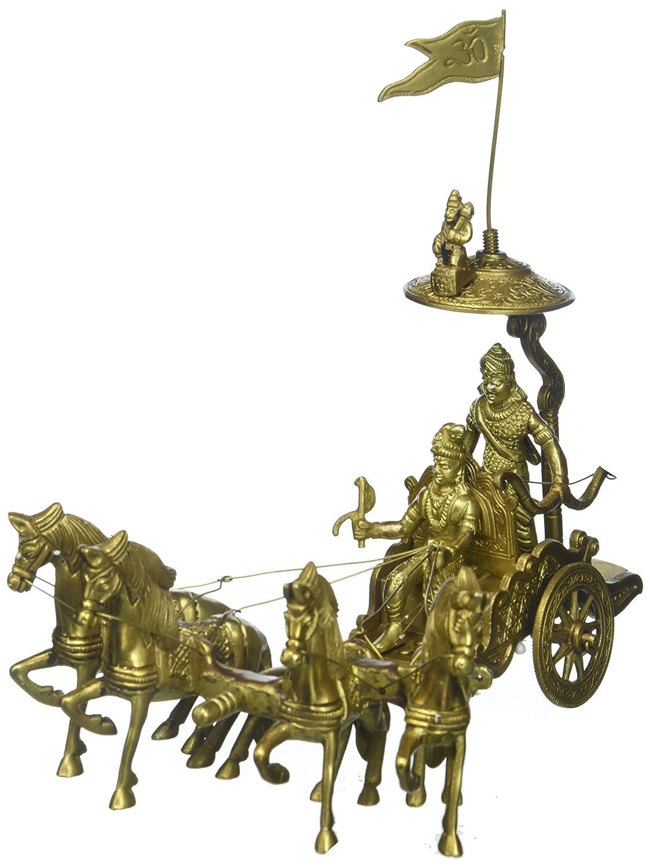 【おまけ付】 真鍮KrishnaとArjun on Chariot Showpiece Mahabharata Rath on Mahabharata Chariot B01E18P3IU, FESCOポップコーンショップ:dd44c677 --- arcego.dominiotemporario.com
