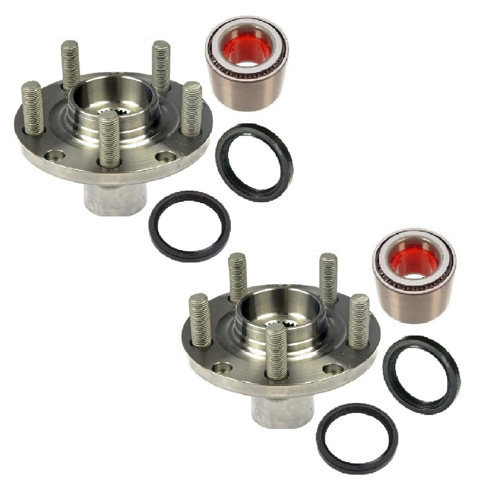 PAIR FRONT Left and Right Wheel Hub & (KOYO) Bearing with Seal fit 1998-2008 SUBARU FORESTER (for ABS model only) by 8USAUTO (Image #1)