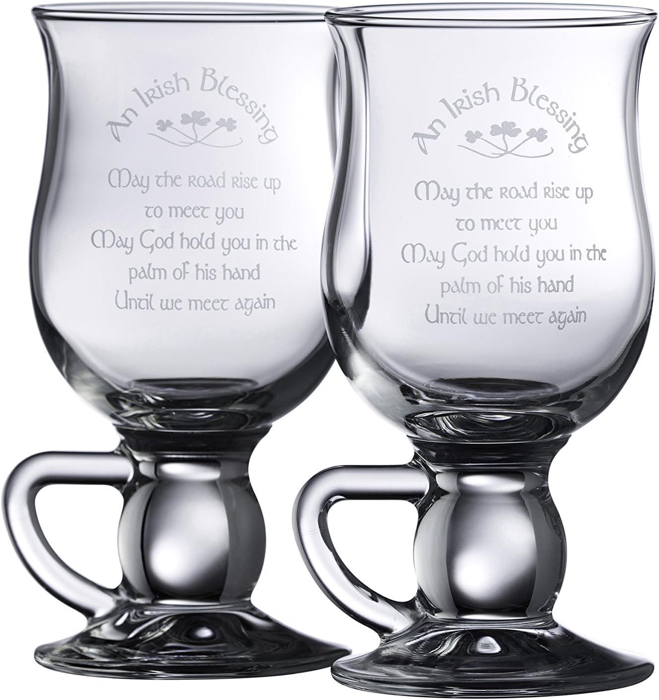 Galway Crystal Irish Blessing 5 Elegant popular 1 Pair Clear Latte