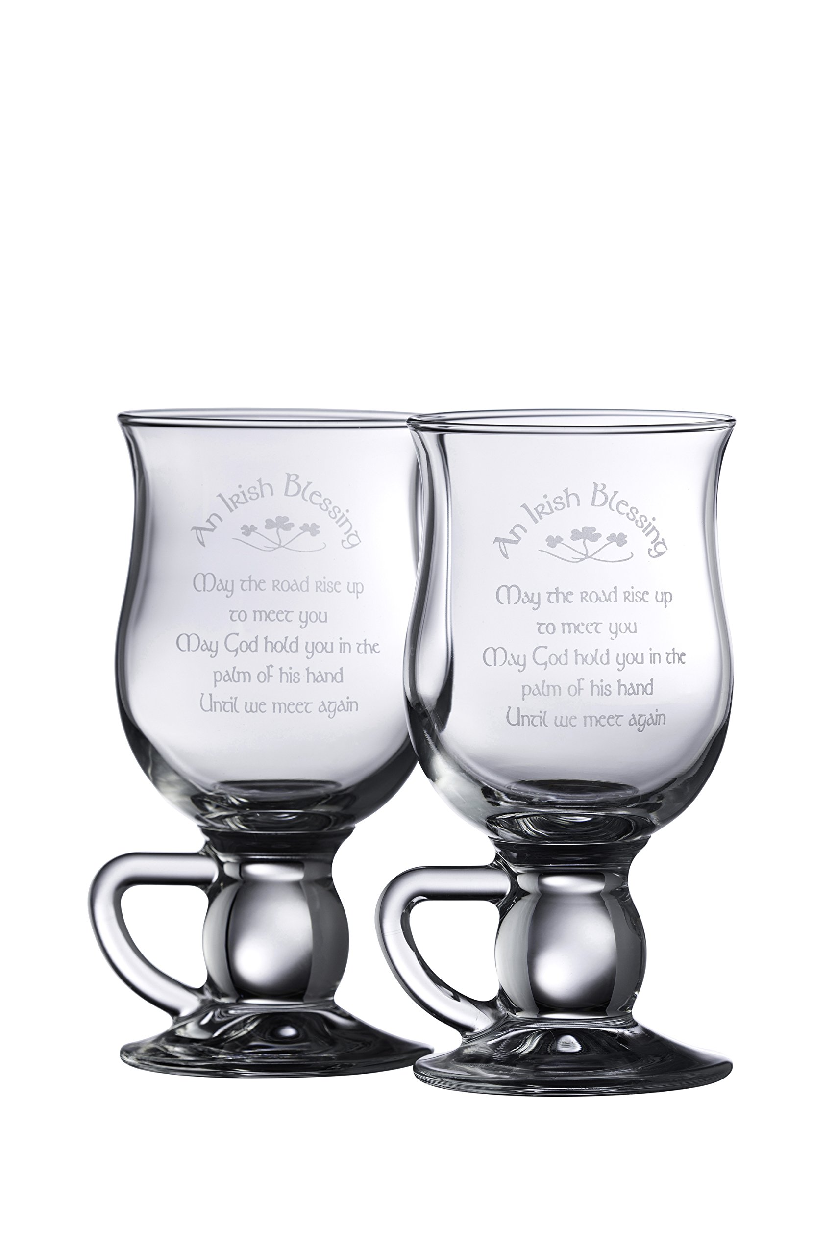 Galway Crystal Irish Blessing Latte (1 Pair), Clear