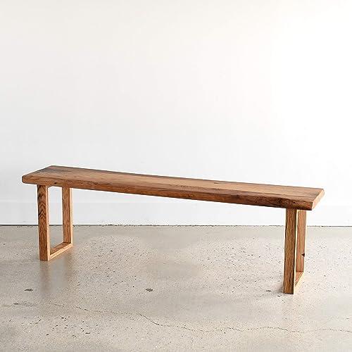 Brilliant Amazon Com Reclaimed Live Edge Bench U Shaped Wood Legs Ibusinesslaw Wood Chair Design Ideas Ibusinesslaworg