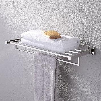Superb KES Towel Rack, Bathroom Shelf With Towel Bar (Polished 24 Inch Stainless  Steel)
