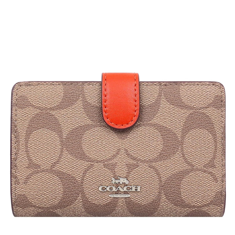 [コーチ] COACH 財布 (二つ折り財布) F23553 カーキ×オレンジレッド SVN3Z シグネチャー 二つ折り財布 レディース [アウトレット品] [並行輸入品] B07C2TH5RK