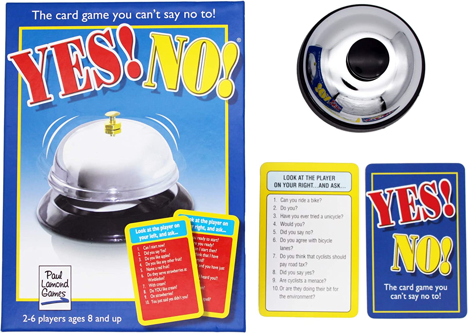 Yes No Game Quick Fire Card Question Family Quiz Party Game 2-6 Players
