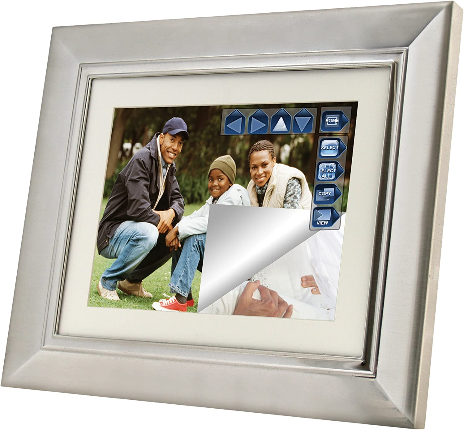Pandigital Pan Touch PAN1059MW02T 10.4-Inch Digital Picture Frame with 2 Interchangeable Frames