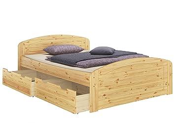 Funktionsbett Doppelbett Bettkasten Rollrost Matratze 160x200