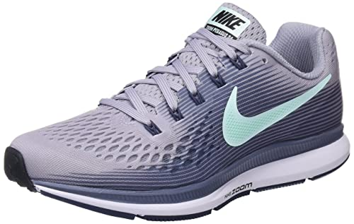 Nike Women's Air Zoom Pegasus 34 Competition Running Shoes, Grey (Provence  Purple/Igloo