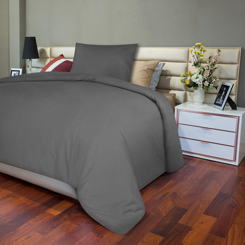 Copripiumino e 2 Federe in Microfibra Utopia Bedding Set Copripiumino Bianco, 200 x 200 cm