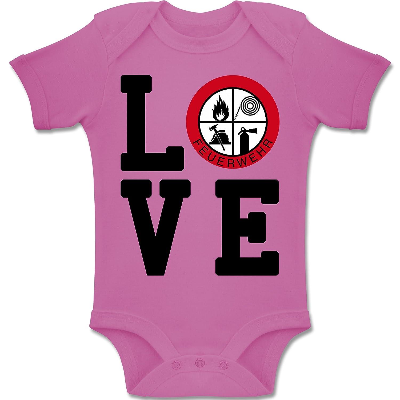 Shirtracer Feuerwehr Baby Love Feuerwehr Baby Body Kurzarm Jungen M/ädchen