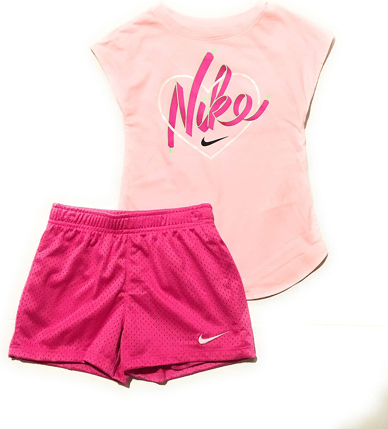 Nike Set Girls Shirt Shorts Set Size 6X