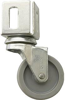 Simonrack 91601000001 Rueda de 60 mm (con pie, sin Freno, Acero)
