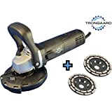 TRONGAARD Betonschleifer / Sanierungsfräse / Winkelschleifer Set 1.400W / 125mm mit Drehzahlregelung