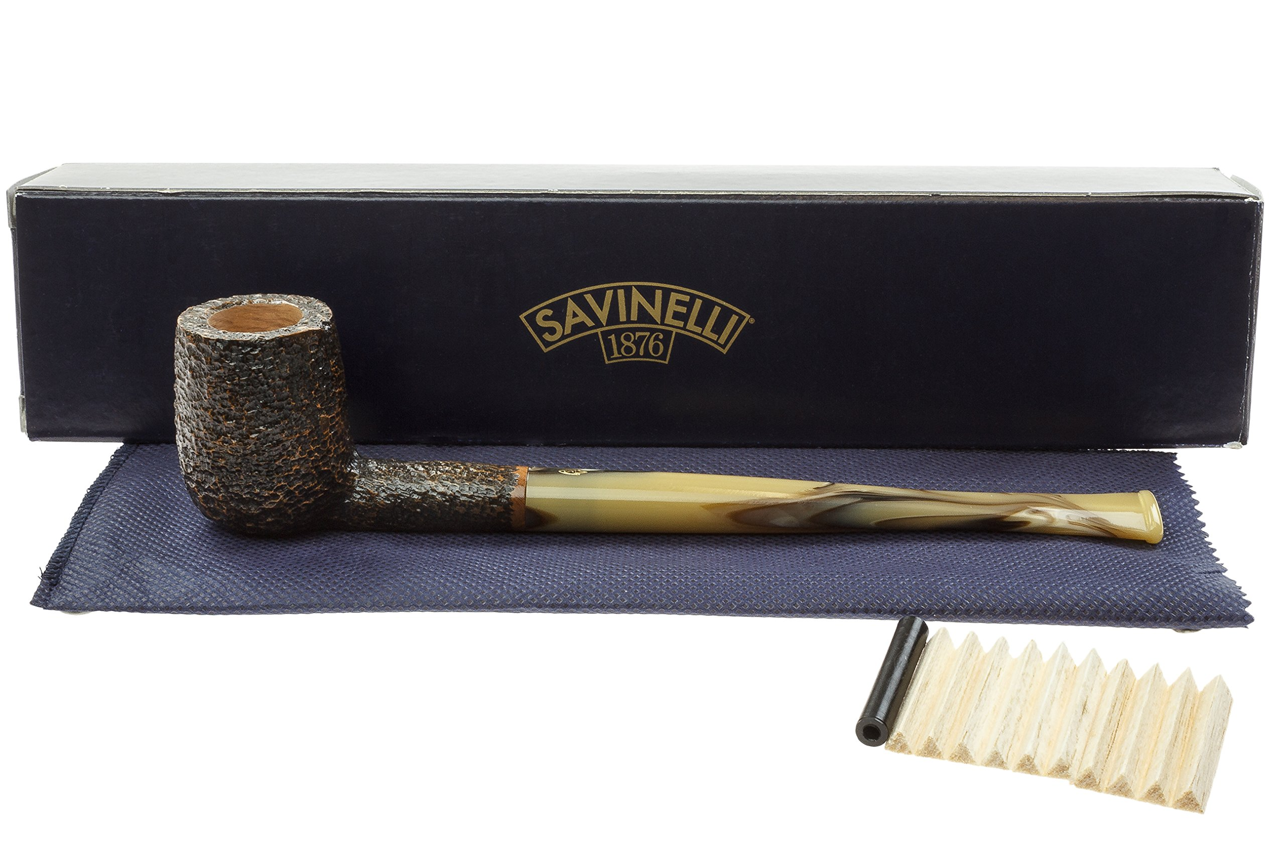 Savinelli Ginger's Favorite 104 Churchwarden Pipe - Rustic