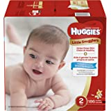 HUGGIES Little Snugglers Baby Diapers, Size 2, for 12-18 lbs, One