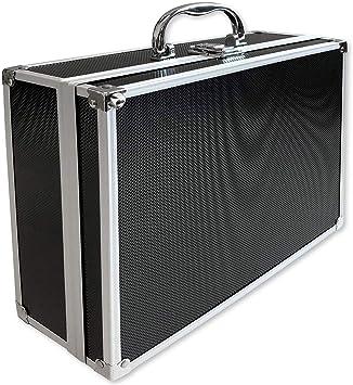 ECI® - Maletín de aluminio negro con dados de espuma vacío, maletín de aluminio, caja de herramientas, 300 x 250 x 105 mm: Amazon.es: Bricolaje y herramientas